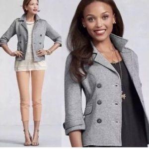 Cabi Heathered Gray Shruken Pea Coat Blazer